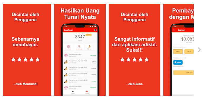 Aplikasi Penghasil Uang BuzzBreak